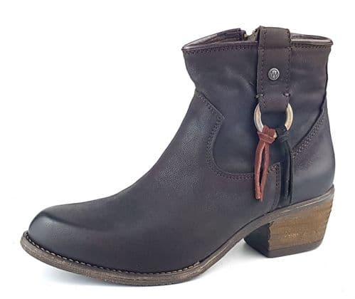 Wrangler Carson Ring Dark Brown Boots